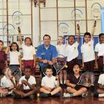 Greg Rusedski goes back to school